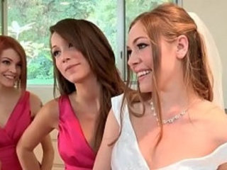 Bride has lesbian with bridesmaids