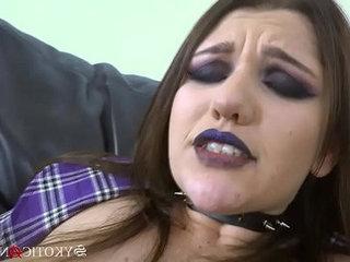 Sykotic angel big tits lesbian anal play