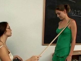 Teacher and schoolgirl lesbian foot fetish