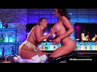 Lesbo nikki benz and abigail mac furiously lick and finger cunts